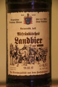 Altfraenkisches Landbier Brauhaus Wiesen  002