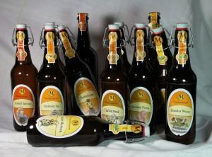 Die 12 neuen Biersorten im Bierkalender 2013 der Maxbrauerei Biermanufaktur: Eine davonwird jeden Monat gebraut.