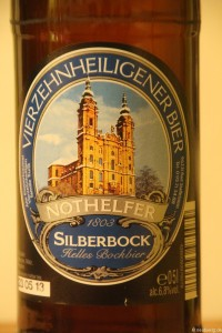 Vierzehnheiligener Bier - Silberbock der Brauerei Trunk  001
