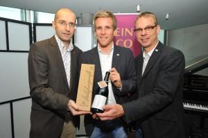 Martin Feichtner (Einkauf WEIN & CO), Seppi Sigl (TRUMER Privatbrauerei), Axel Kiesbye (Braumeister TRUMER Privatbrauerei)